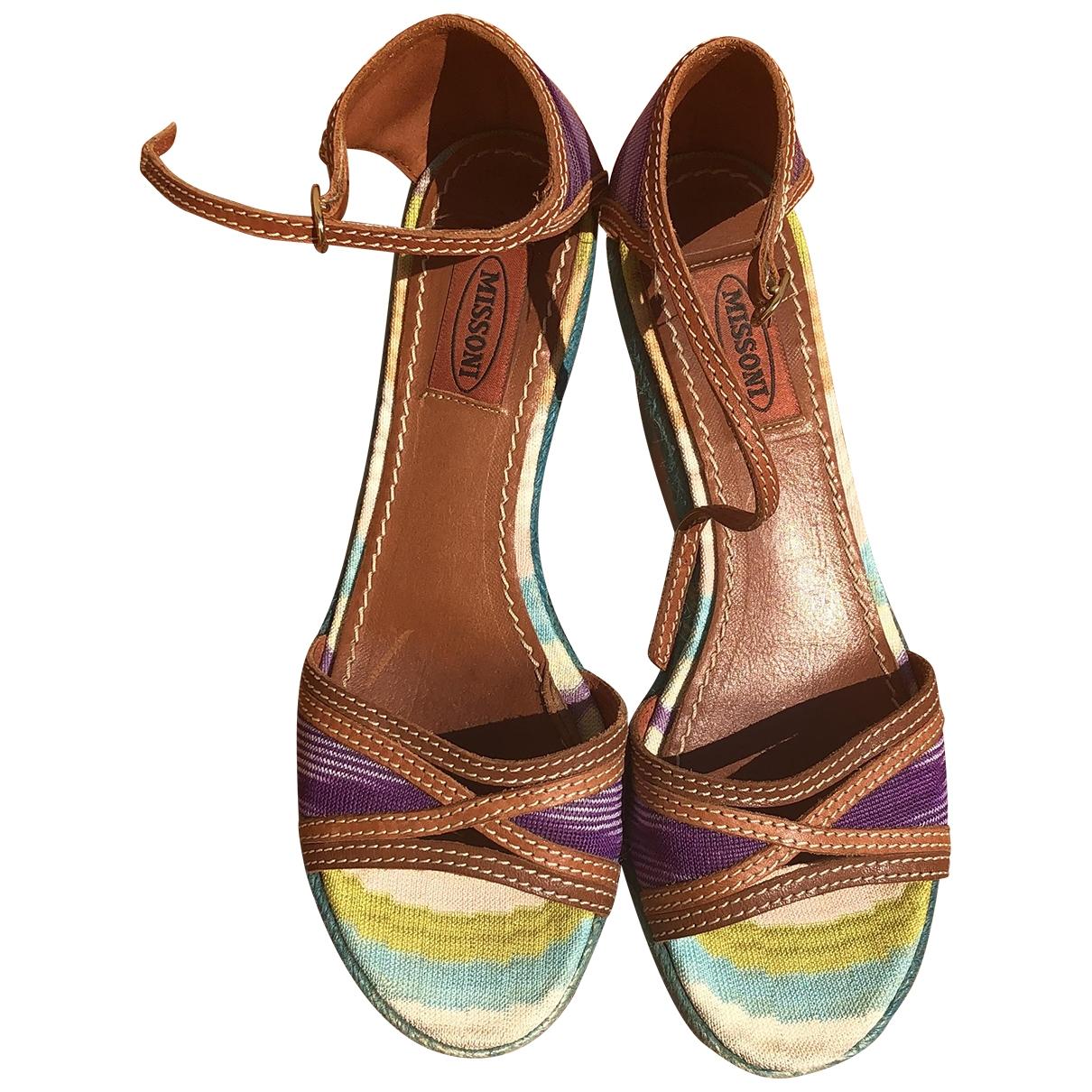 Sandalias de Lona Missoni