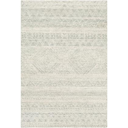 Newcastle NCS-2312 4' x 6' Rectangle Global Rug in Sea Foam  Sage  Dark Green