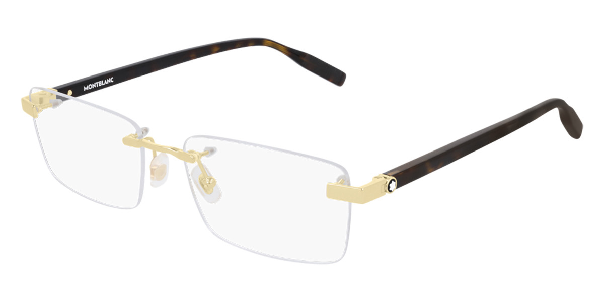 Mont Blanc MB0055O 002 Women's Glasses Gold Size 56 - Free Lenses - HSA/FSA Insurance - Blue Light Block Available