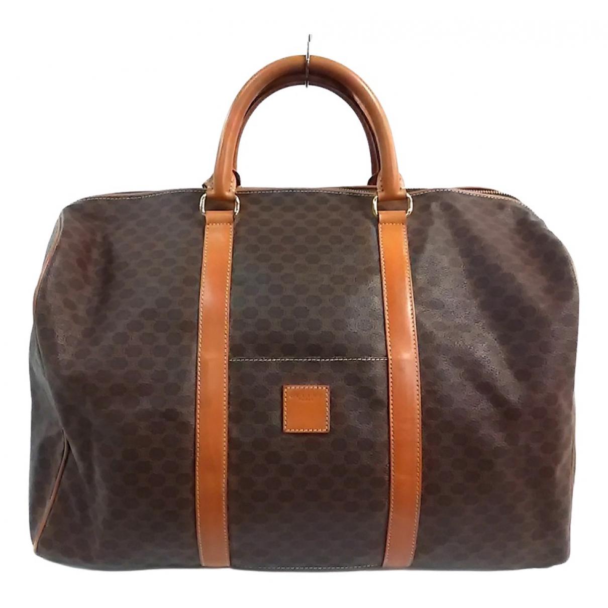 Celine \N Brown Cloth Travel bag for Women \N
