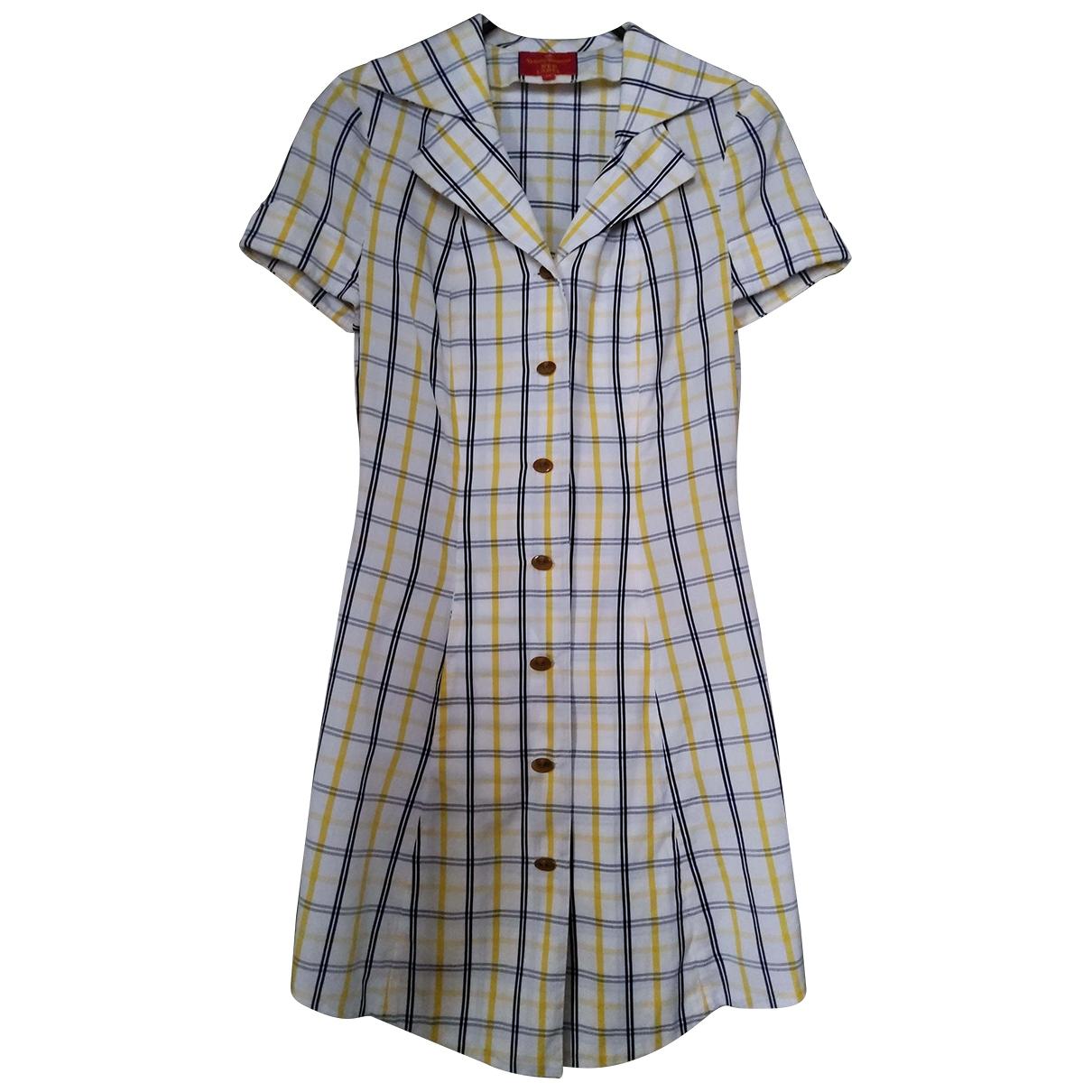 Vivienne Westwood Red Label \N Kleid in  Weiss Baumwolle