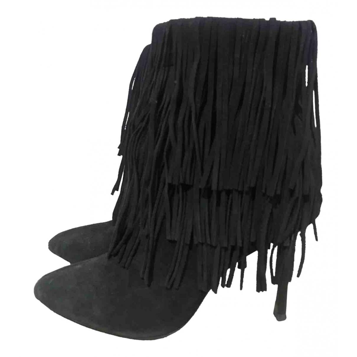 Zara \N Black Suede Boots for Women 40 EU