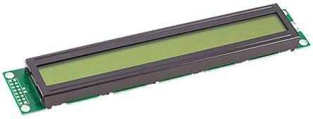 Fordata FC4002B00-FHYYBW-51SE FC Alphanumeric LCD Alphanumeric Display, Green, Yellow on Yellow-Green, 2 Rows by 40