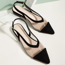 Clear Point Toe Slingback Flats