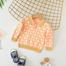 Pullover mit Argyle Muster und Streifen