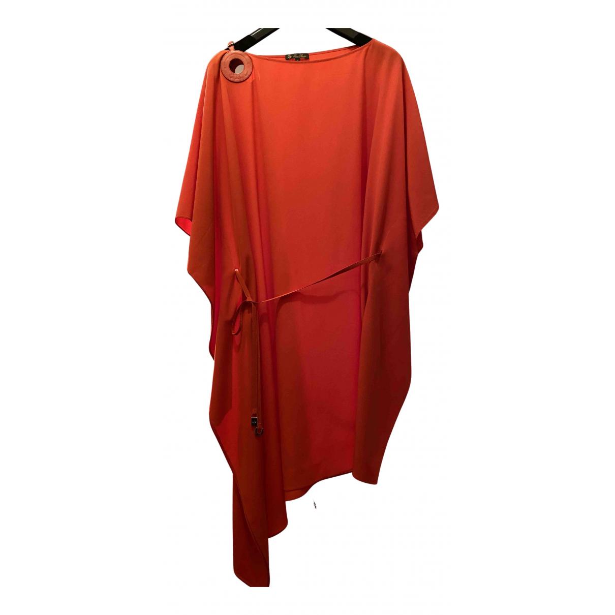 Loro Piana \N Kleid in  Rot Seide