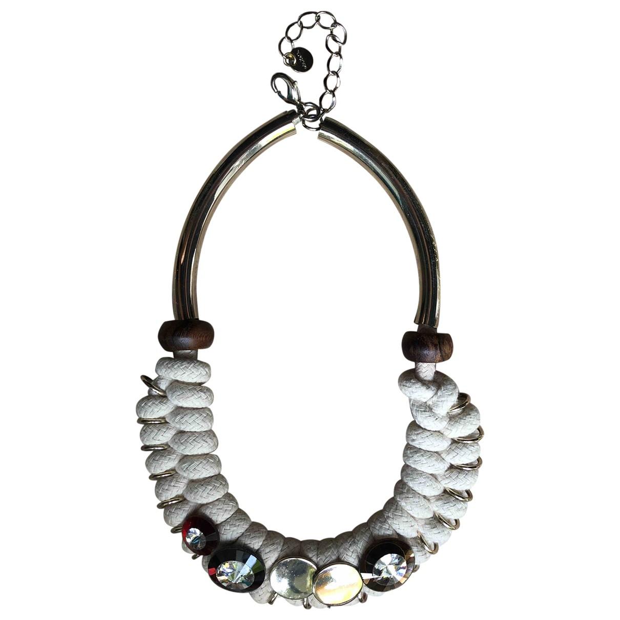 Max & Co - Collier   pour femme en perles - ecru