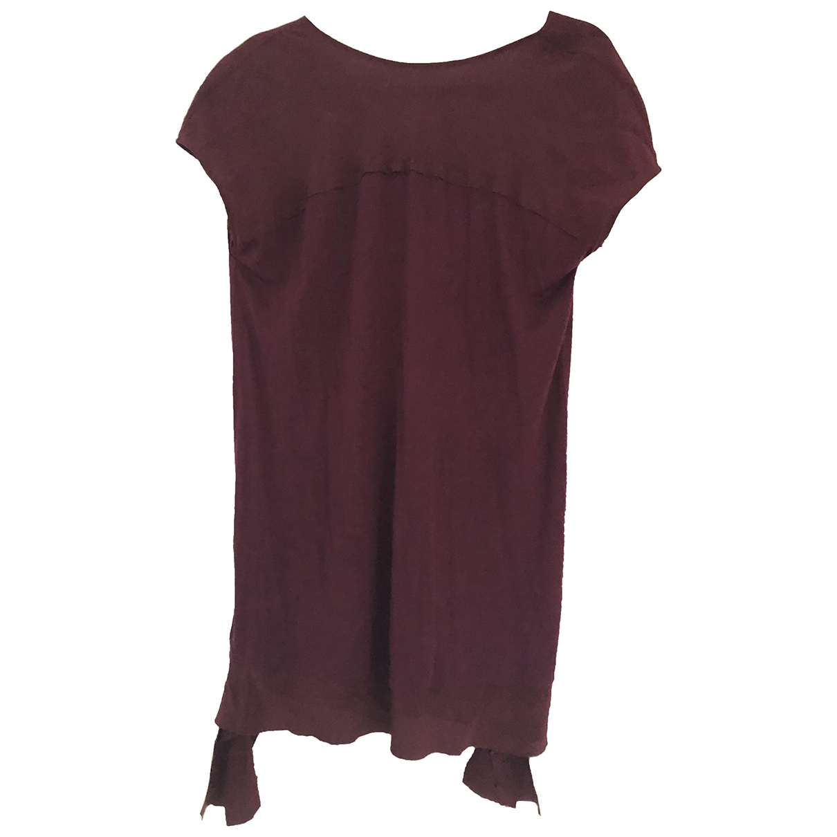 Miu Miu \N Kleid in  Bordeauxrot Synthetik