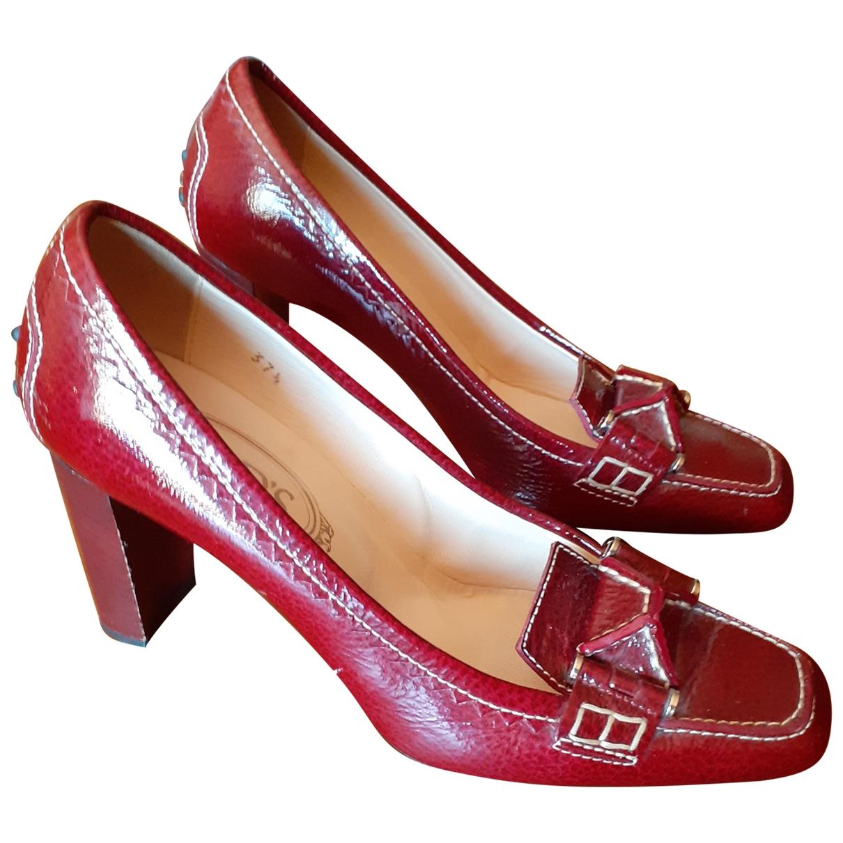 Tods - Escarpins   pour femme en cuir exotique - bordeaux