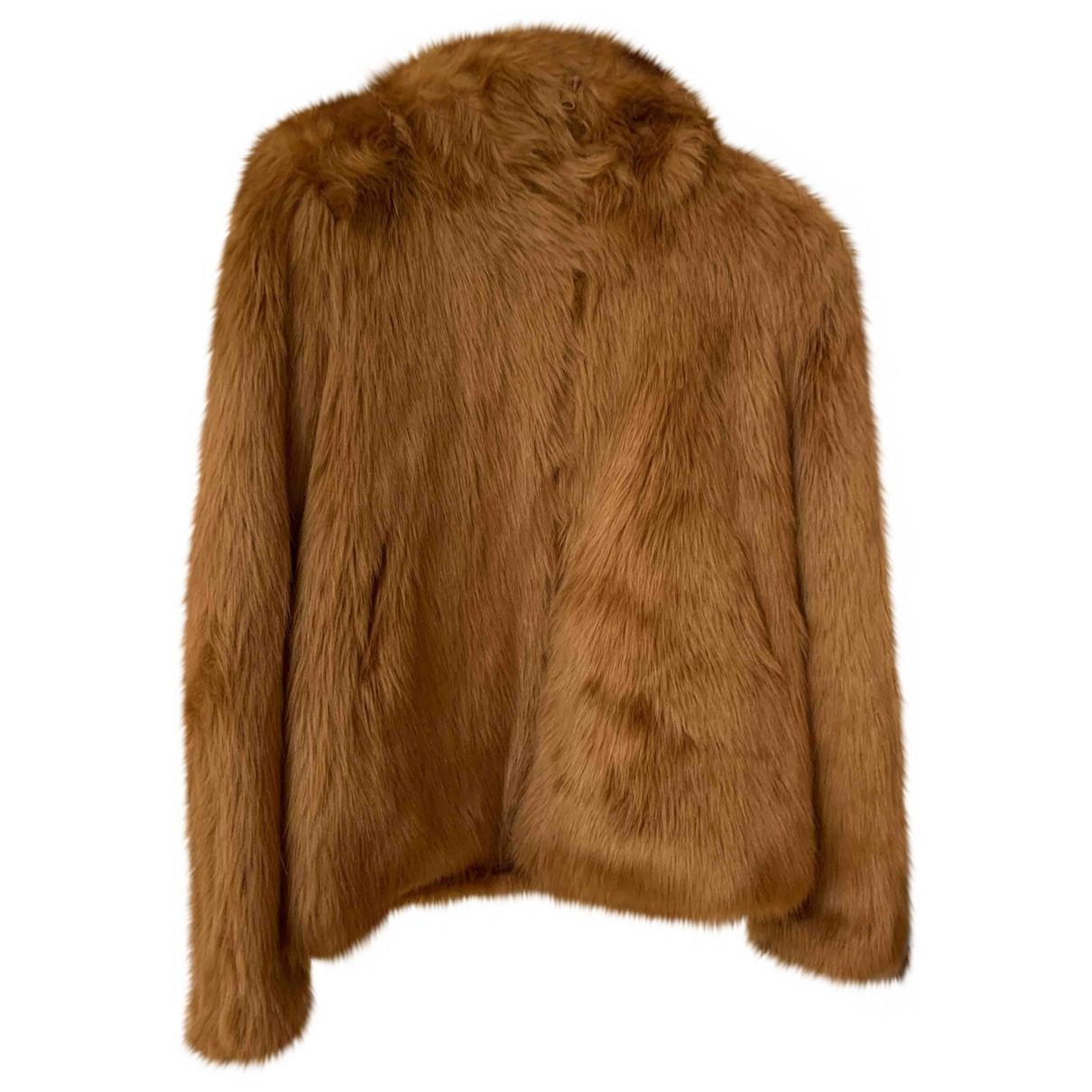 Dondup - Manteau   pour femme en fourrure synthetique - beige