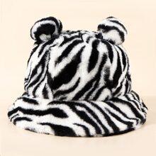 Sombrero cubo de rayas de cebra
