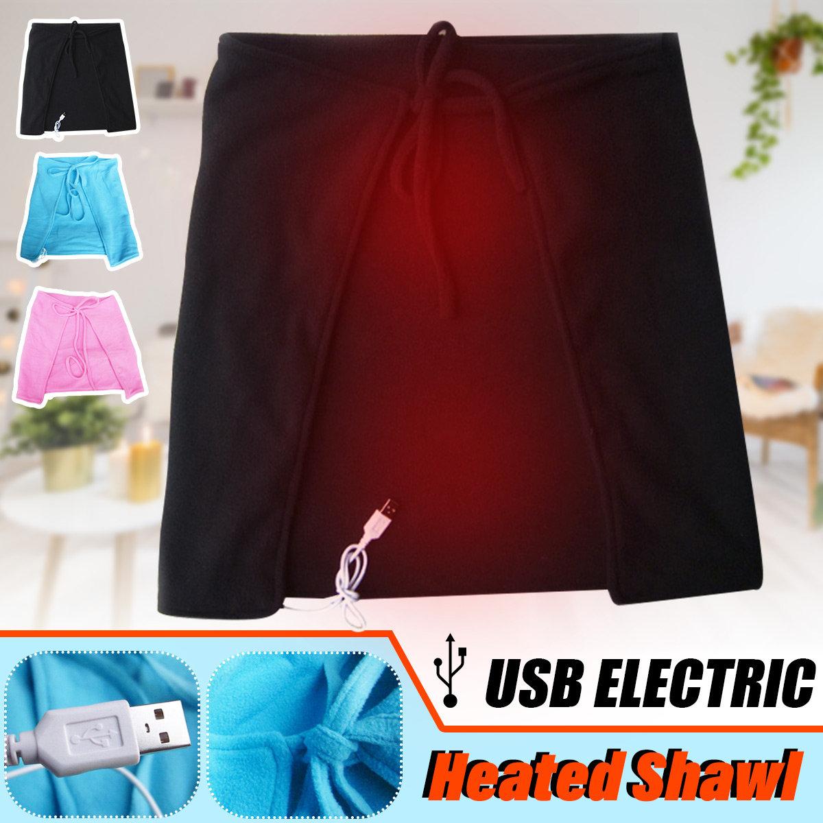 USB Electric Blanket Shawl Velvet Knee Heated Blanket Neck Care Blanket Personal Health Care