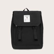 Men Nylon Flap Backpack