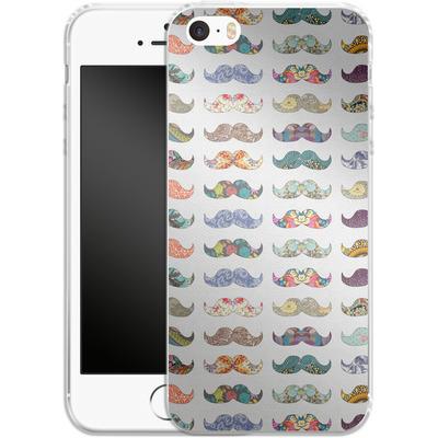 Apple iPhone 5 Silikon Handyhuelle - Mustache Mania von Bianca Green