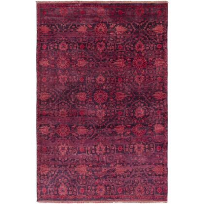 Empress EMS-7014 9' x 13' Rectangle Traditional Rug in Burgundy  Bright Red  Rose  Dark
