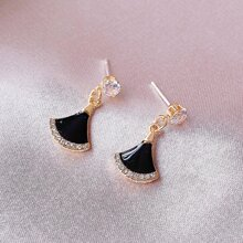 Rhinestone Decor Drop Earrings
