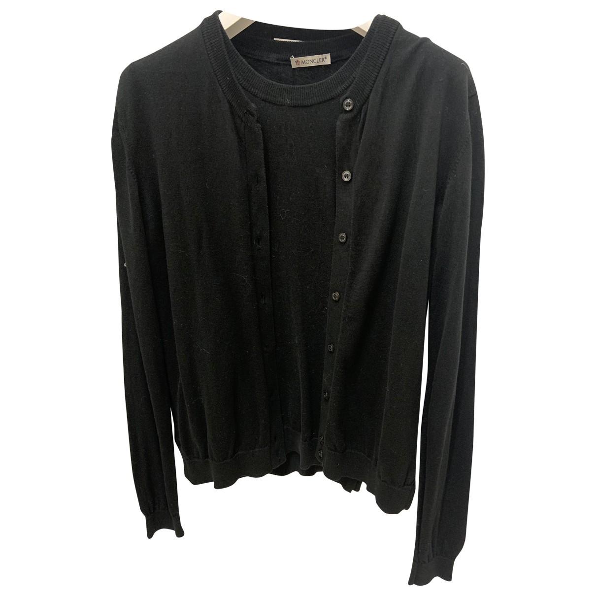 Moncler - Pull   pour femme en coton - noir