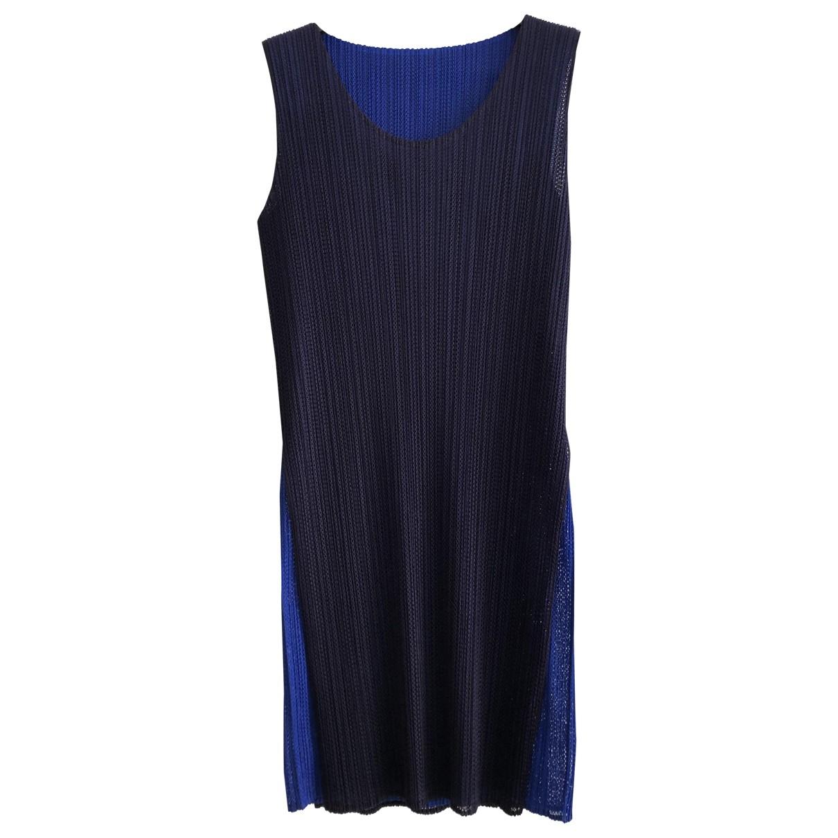 Issey Miyake - Robe   pour femme - bleu