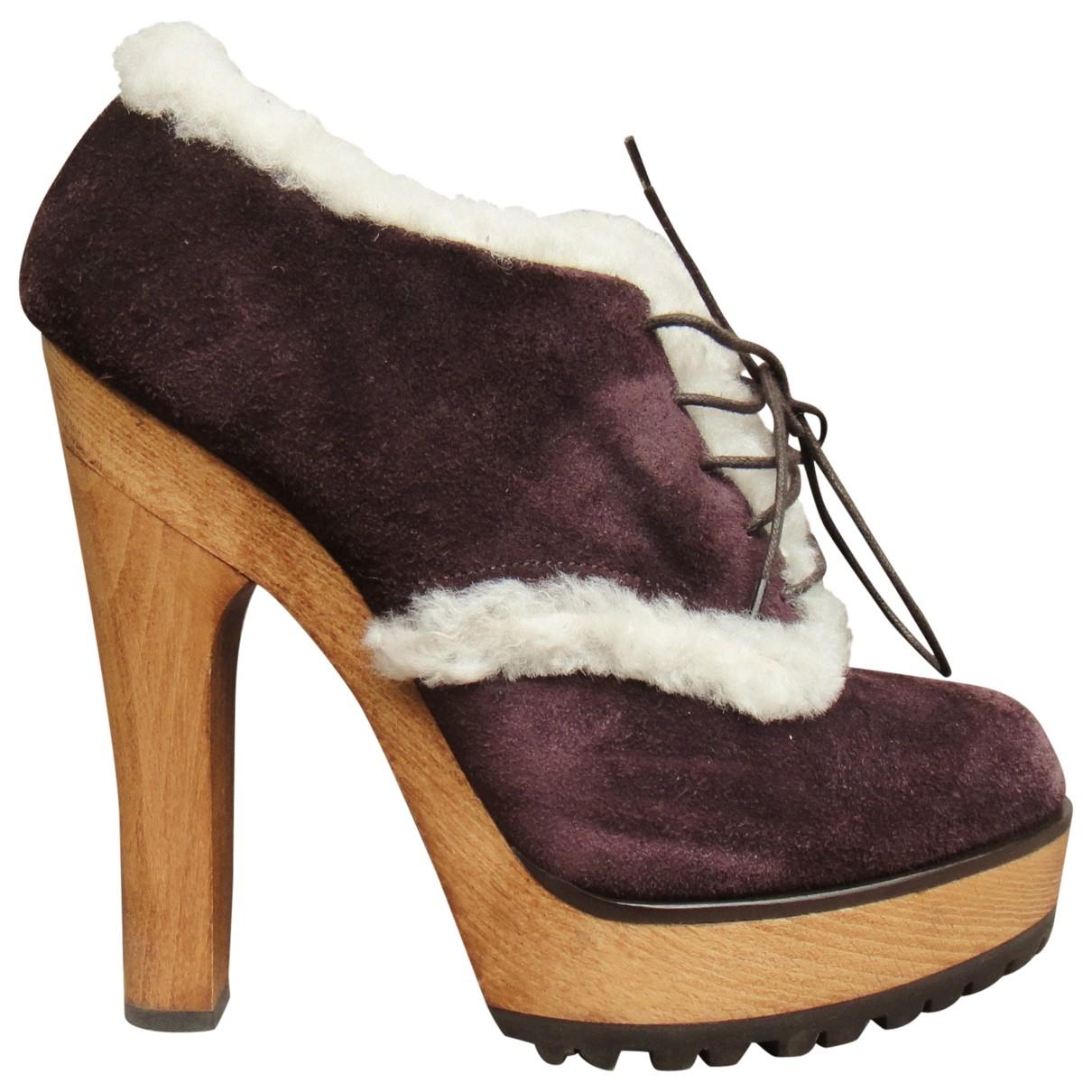 Dolce & Gabbana \N Stiefeletten in  Lila Schaf