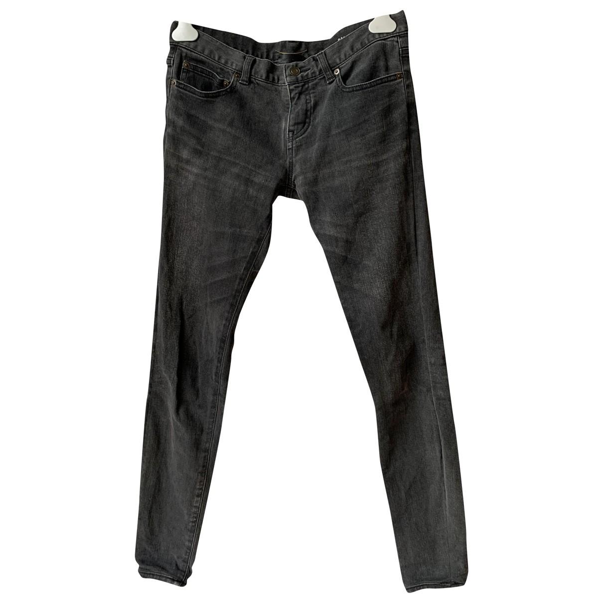 Saint Laurent \N Grey Cotton - elasthane Jeans for Women 28 US