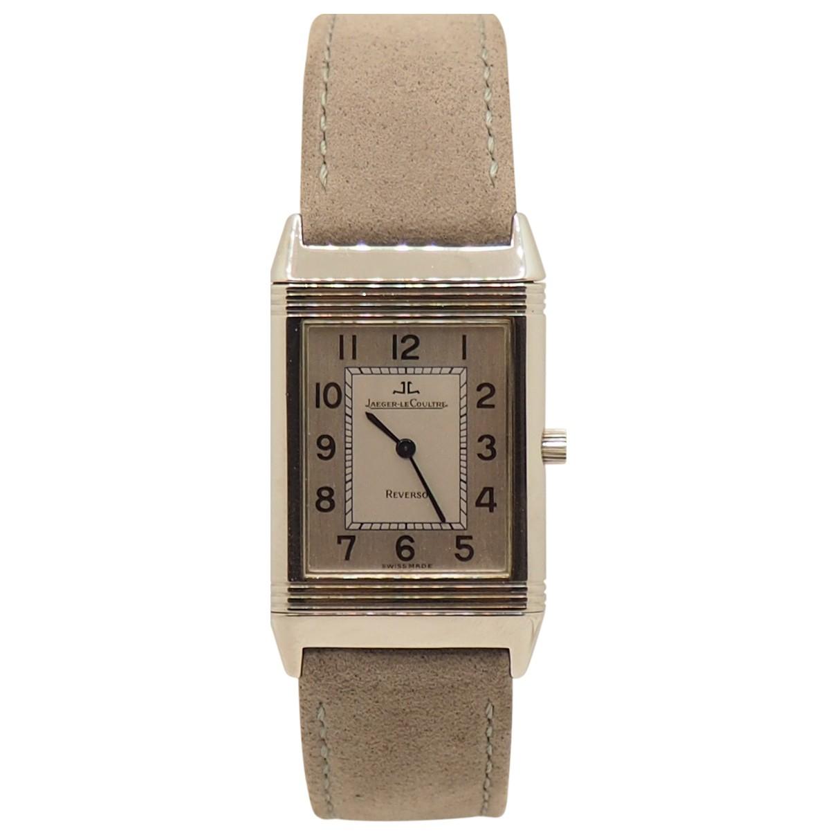 Jaeger-lecoultre Reverso Quartz Uhr in  Grau Stahl