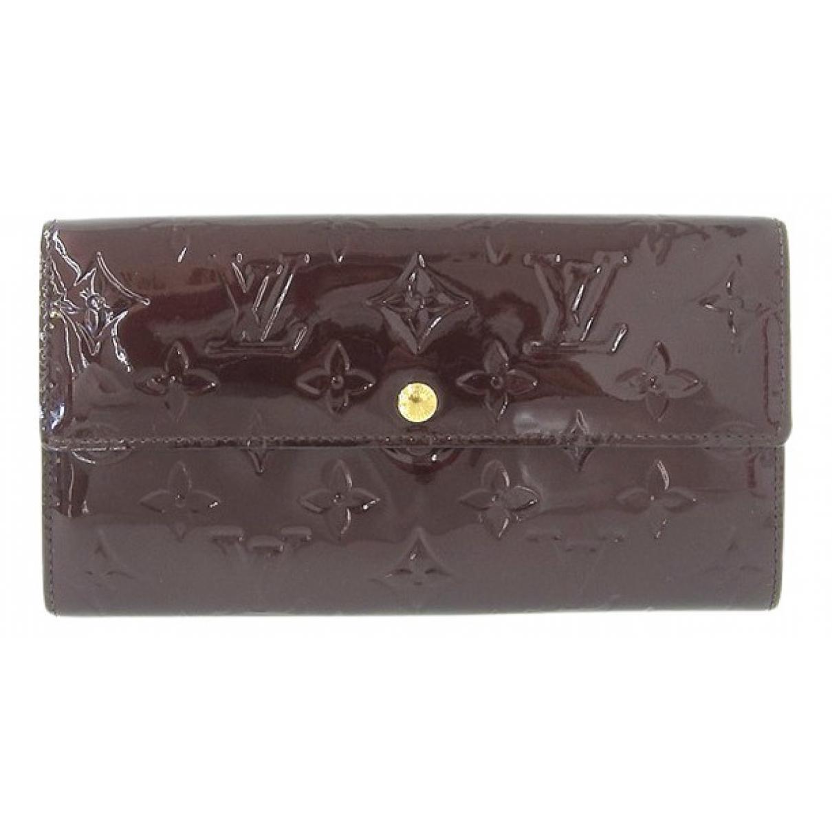 Louis Vuitton - Portefeuille Sarah pour femme en cuir verni - violet