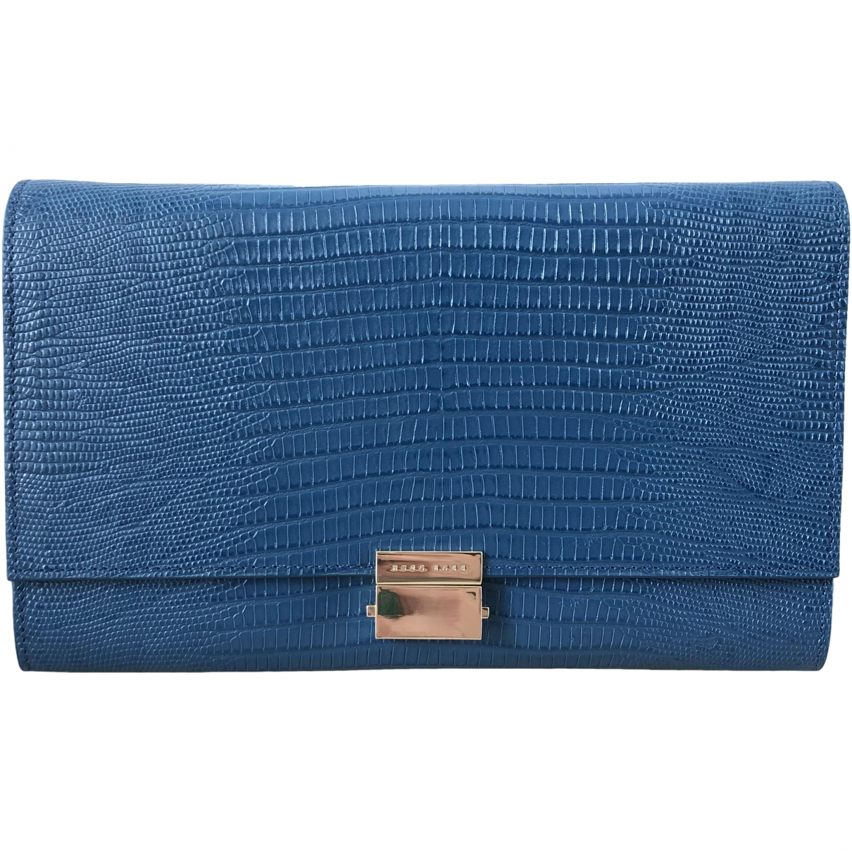 Boss \N Blue Leather Clutch bag for Women \N