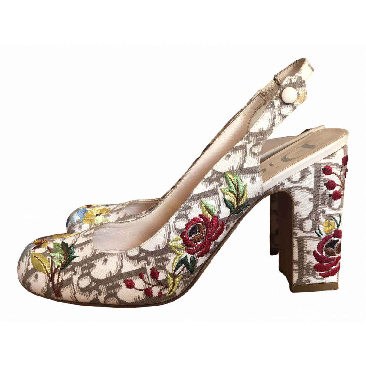 Dior \N Beige Cloth Heels for Women 39 EU