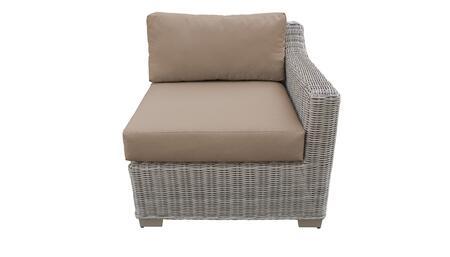 TKC038b-LAS-WHEAT Left Arm Chair - Beige and Wheat