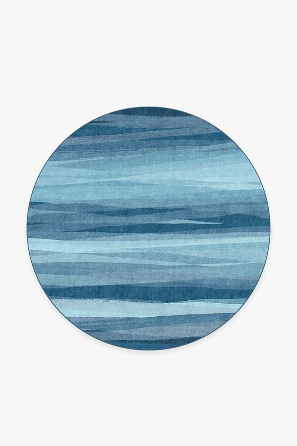 Washable Rug Cover & Pad | Meridian Blue Rug | Stain-Resistant | Ruggable | 6' Round