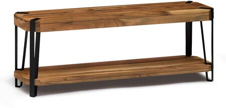 Ryegate Collection AWCC0420 Natural Live Edge Solid Wood with Metal 48