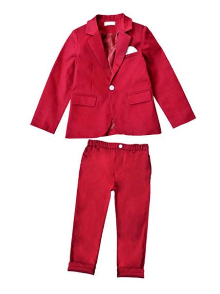 Milanoo Traje al portador Trajes Traje de niños Fiesta de bodas Ropa formal Pantalones y chaqueta 2 piezas