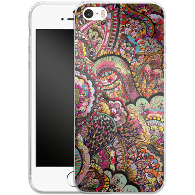 Apple iPhone 5s Silikon Handyhuelle - Her Hair Les Fleur von Bianca Green