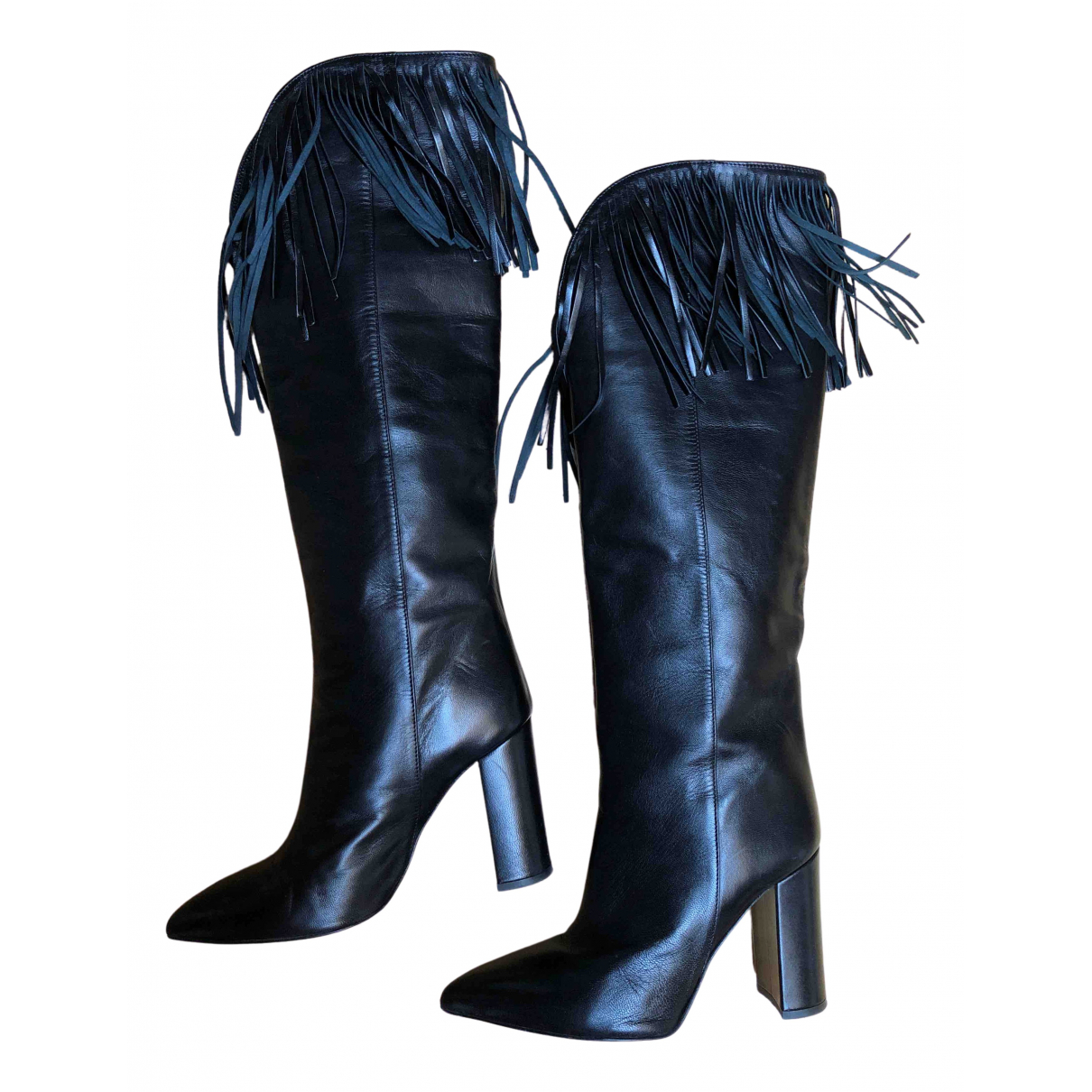 Paris Texas \N Stiefel in  Schwarz Leder