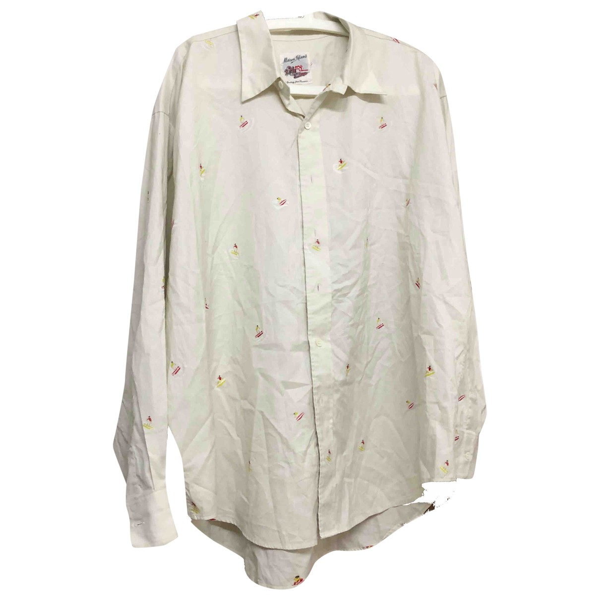 Maison Kitsune \N White Cotton Shirts for Men 42 EU (tour de cou / collar)