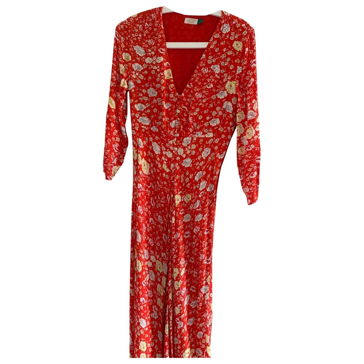 Rixo \N Red Cotton dress for Women 38 FR