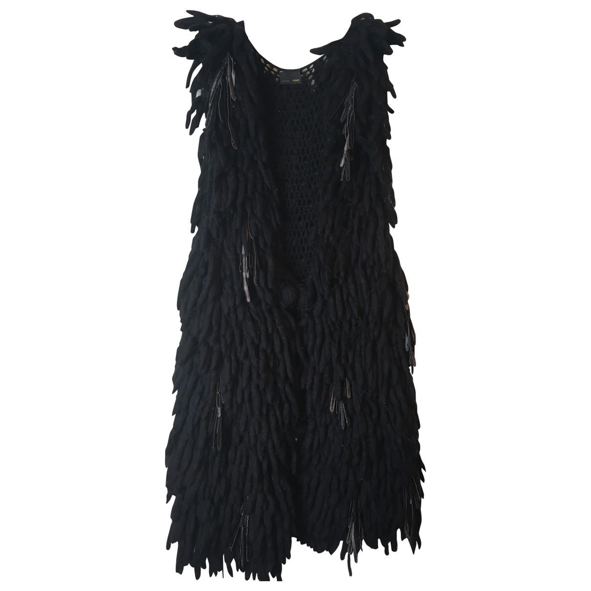 Fendi \N Black Wool Knitwear for Women 44 IT