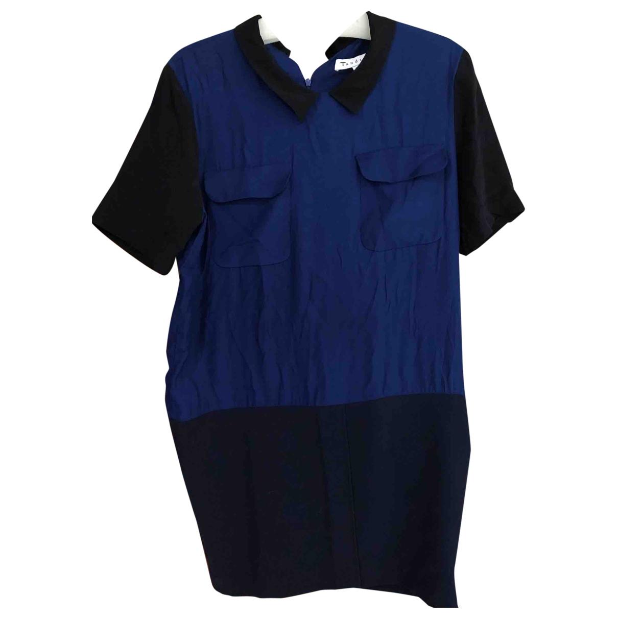Sandro \N Blue Silk dress for Women 3 0-5