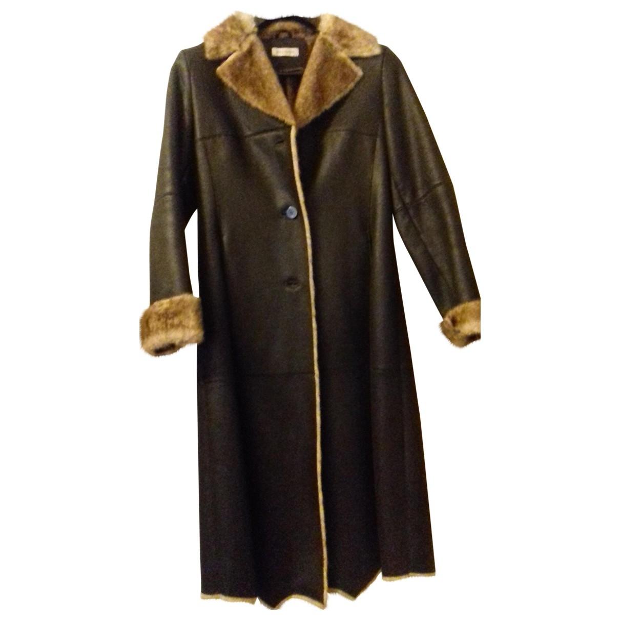Pierre Balmain \N Brown coat for Women L International