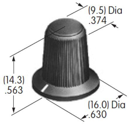 NKK Switches Rotary Switch Knob for use with FR01 Series Rocker Switch, MR Series Rocker Switch (5)