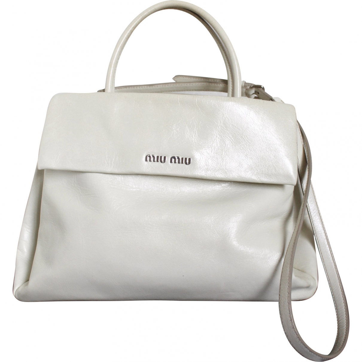 Miu Miu \N White Patent leather handbag for Women \N