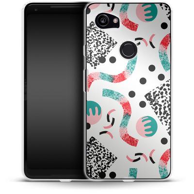 Google Pixel 2 XL Silikon Handyhuelle - Confetti von Jenna Kunnas