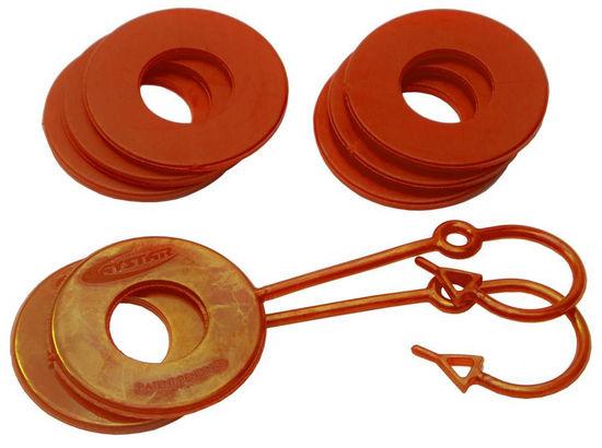 Daystar KU70061AG D Ring Isolator Washer Locker Kit 2 Locking Washers and 6 Non-Locking Washers Orange