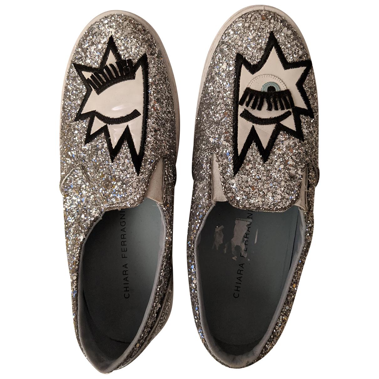 Chiara Ferragni \N Silver Glitter Espadrilles for Women 38 IT