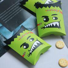 10 piezas caja con patron de halloween