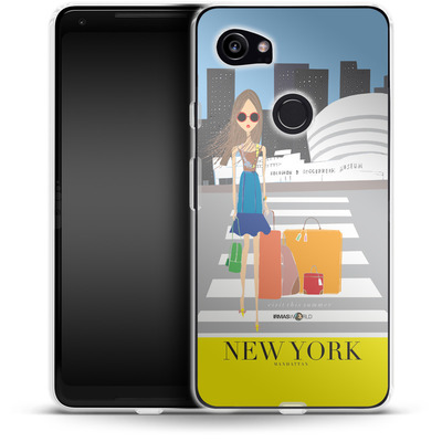 Google Pixel 2 XL Silikon Handyhuelle - NEW YORK TRAVEL POSTER von IRMA