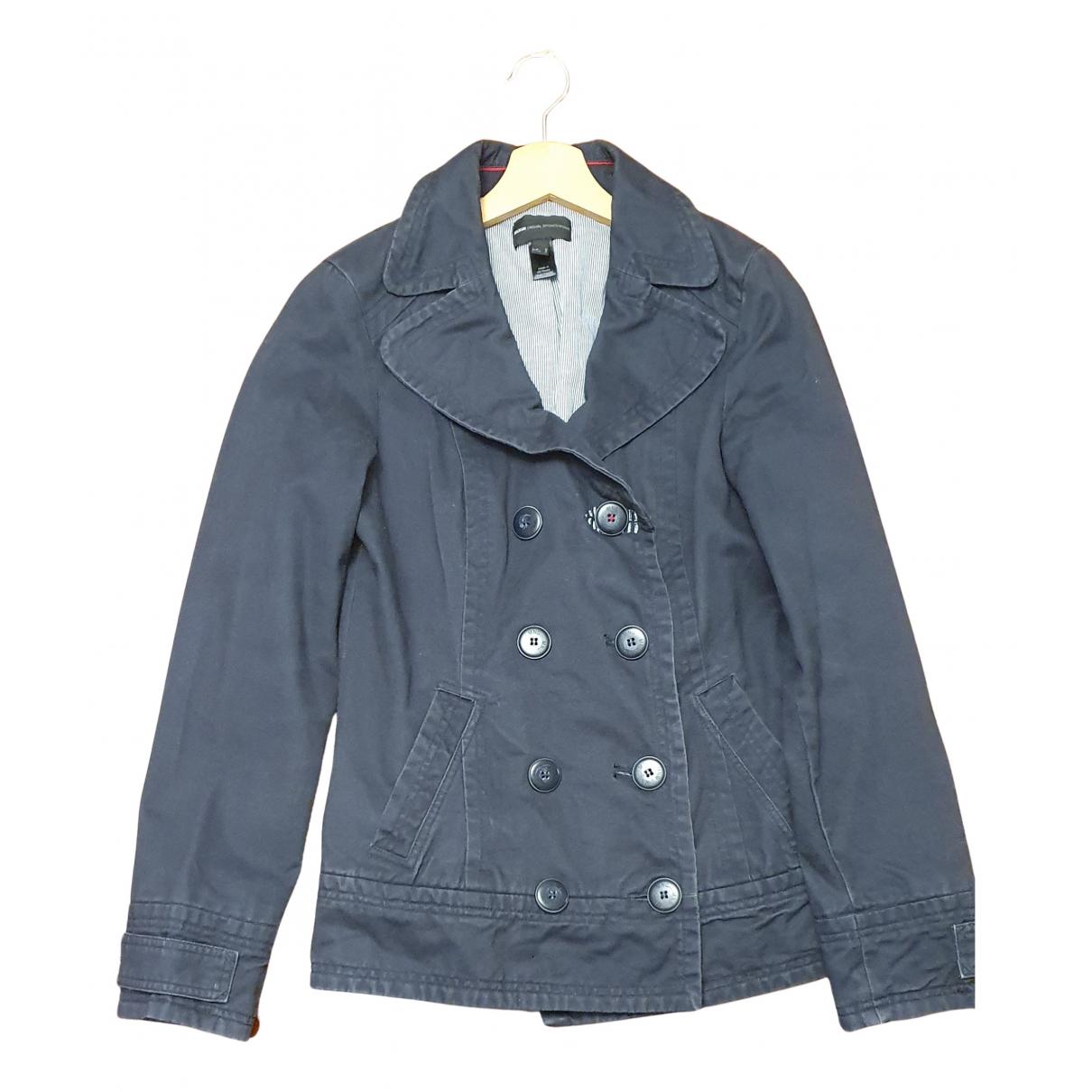 Mango N Blue Cotton coat for Women M International
