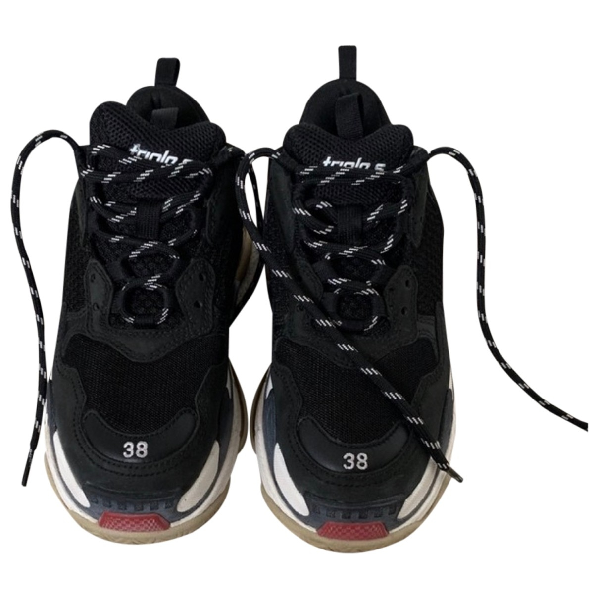Balenciaga Triple S Black Cloth Trainers for Women 38 EU