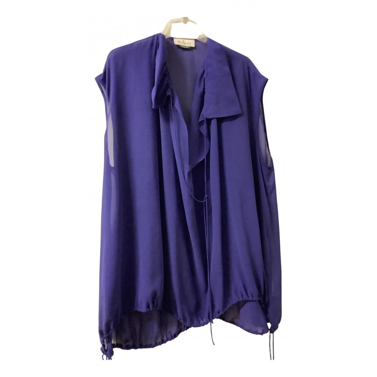 Mulberry N Purple Silk  top for Women 38 IT