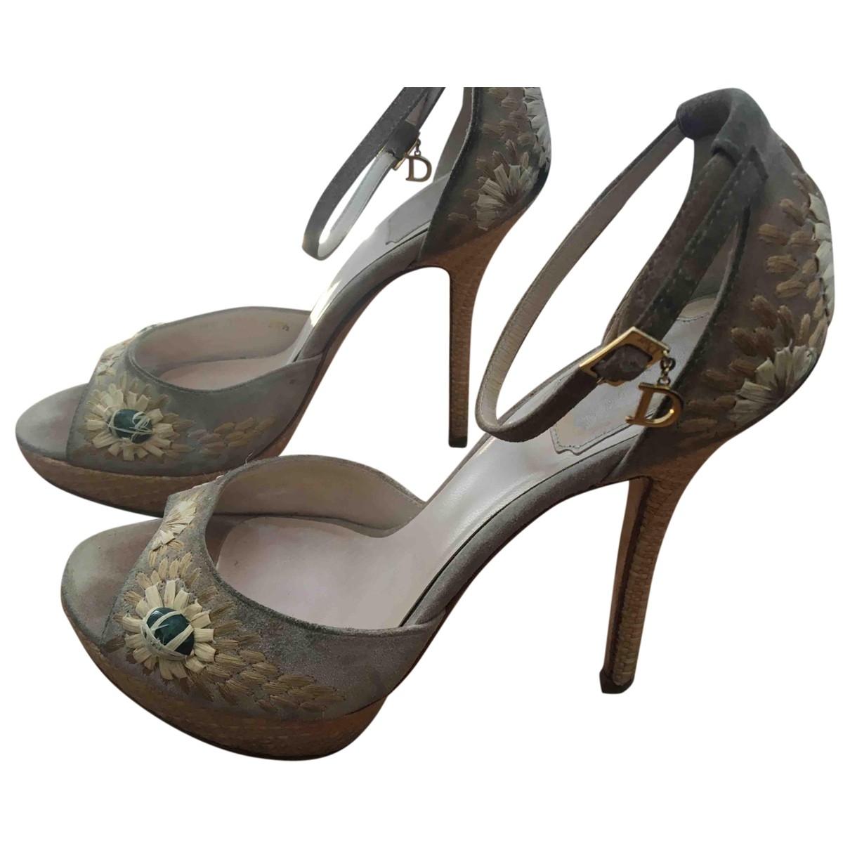 Dior \N Beige Suede Sandals for Women 38.5 EU